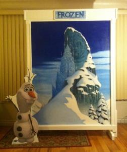 Frozen backdrop, party add-on