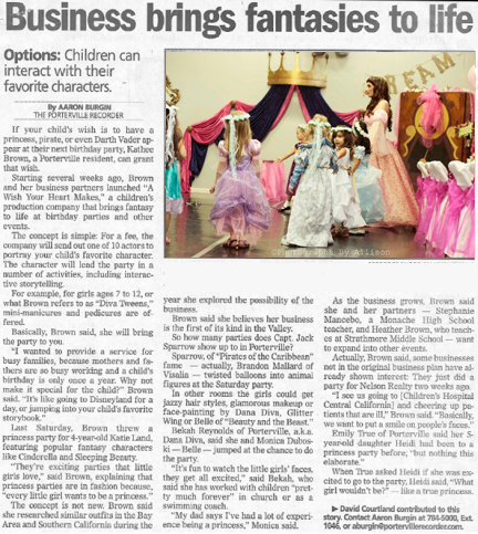 Porterville Recorder Article
