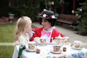 Mary Poppins, www.aWishYourHeartMakes.com, Fairytale parties, Central Valley and Central Coast, California
