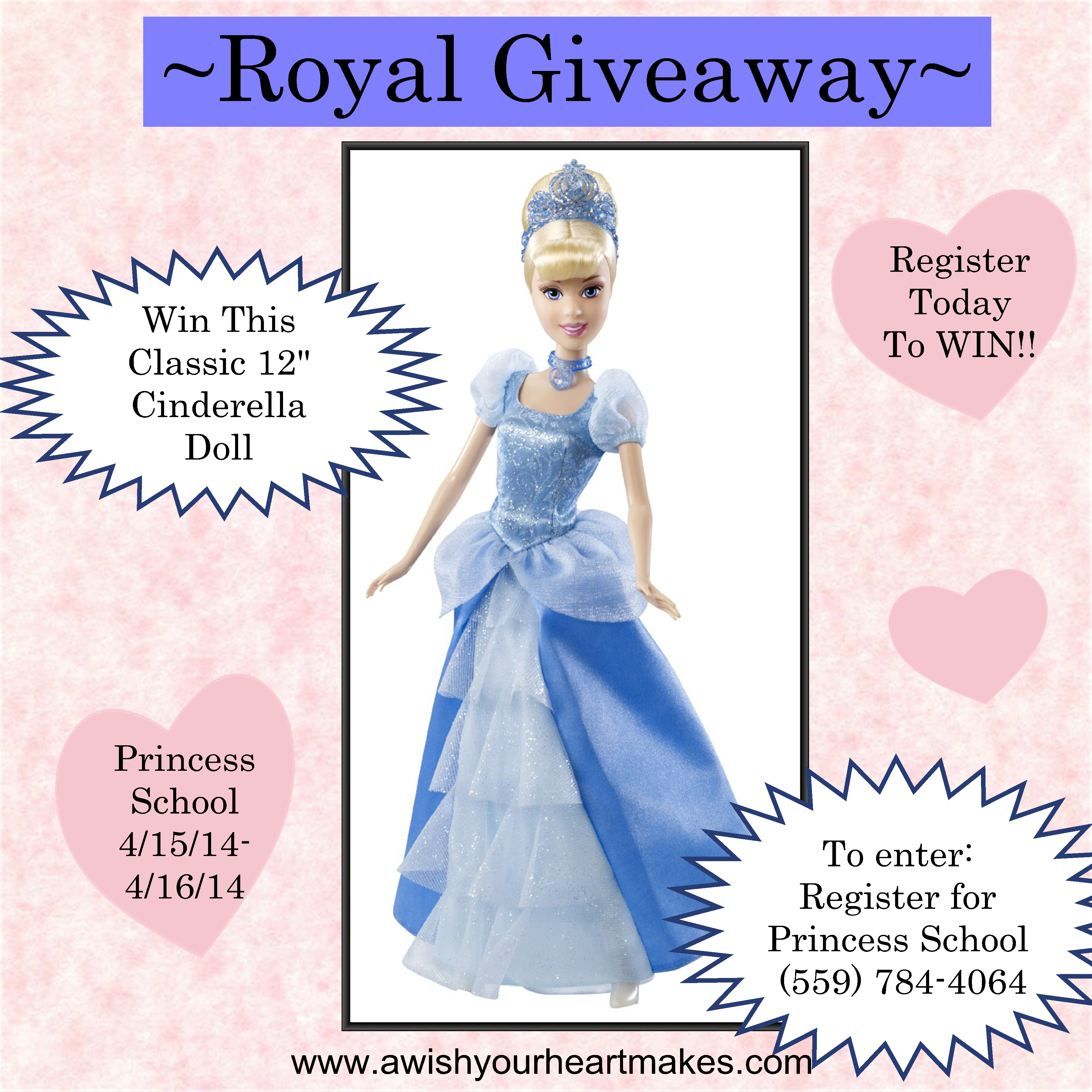 Royal Giveaway at A Wish Your Heart Makes, Central Valley and Central Coast, California