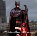 Batman and Batgirl, superhero parties, A Wish Your Heart Makes, Central Valley and Central Coast, California