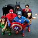 Batman, Poison Ivy, Wonderwoman, Captain America, Superman, and Spiderman, superhero parties, A Wish Your Heart Makes, Central Valley and Central Coast, California
