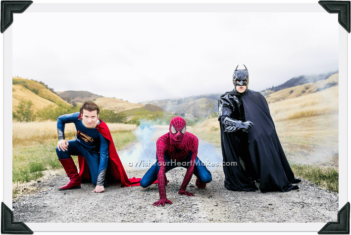 Superhero parties, Central Coast and Central Valley, California