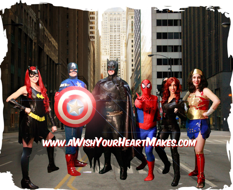 Superhero children's parties, Central Valley and Central Coast, California