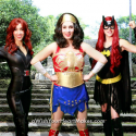 Wonder Woman, Black Widow and Batgirl, Superhero parties, www.aWishYourHeartMakes.com, Central Valley and Central Coast, CA