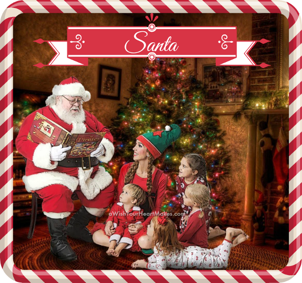 Santa and friends, www.aWishYourHeartMakes.com, Central Valley and Central Coast, California