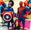 Captain America, Black Widow and Spiderman, Superhero parties, www.aWishYourHeartMakes.com, Central Valley and Central Coast, California