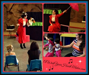 Mary Poppins had a supercalifragilisticexpialidocious time singing with her friends April 11, 2015 at the Santa Maria Valley Discovery Museum!