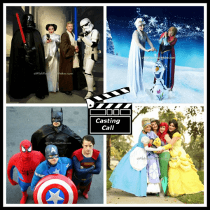 Auditions, Superhero & Princess Parties, Central Coast, Central Valley