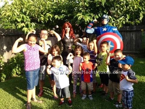 Superhero parties, California, Central Valley and Central Coast