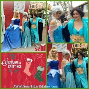Princess Jasmine, Princess Aurora, & Queen Elsa Visit Santa's House in SLO