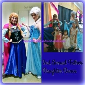 Elsa and Anna at Santa Maria Father Daughter Dance