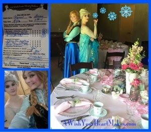 "Elsa & Anna ""Make-A-Wish"" Foundation Tea Party"