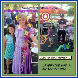 Princess Rapunzel and Captain America greet fans in Visalia!