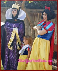 Snow White and the Evil Queen were in Visalia October, 22nd to wish Lucie a happy 5th birthday.