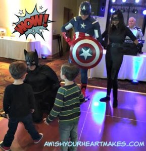 "It was a ""dance"" party with Batman, Catwoman, and Captain America at the San Luis Obispo Country Club for Jack's 4th birthday party on January 15th."