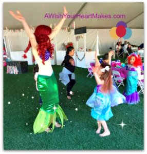 Ariel swam onto dry land from the ocean for Ella's 6th birthday party in Clovis on January 28th.