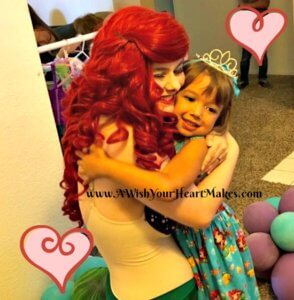 Princess Ariel was delighted to join Spella in her 5th birthday fun in Bakersfield in April!