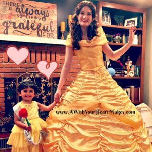 Princess Belle celebrated Reagan's 3rd birthday on April 16th in Porterville!
