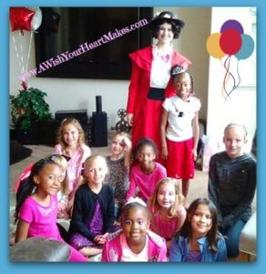 Mary Poppins landed in Fresno April 8th for a spot of tea and to celebrate Zamerah's 8th birthday!