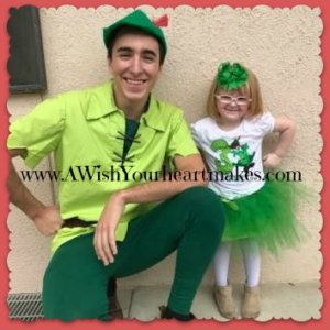 Peter Pan flew in to see Riley for her 3rd birthday at Visalia Adult School Children's Center April 7th!