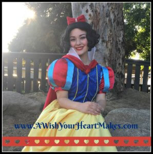 What a special treat for Snow White to be invited to Lachanda's 1st birthday party in Dinuba on April 2nd!