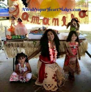 Princess Moana knew the way to Porterville for Samantha's 3rd birthday party on April 30th.