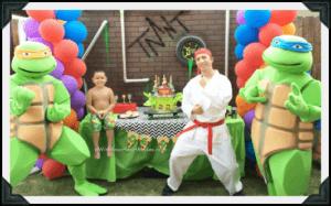 Teenage Mutant Ninja Turtle Parties, Central Valley & Central Coast, California
