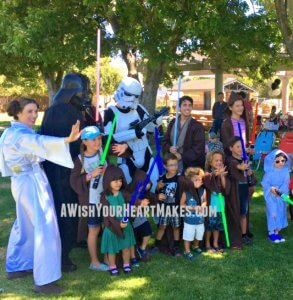 The Force was strong in SLO as Luke celebrated his 4th birthday on August 6th with Jedi Trainer Dominic, Princess Leia, Darth Vader and one of his loyal Storm Troopers.
