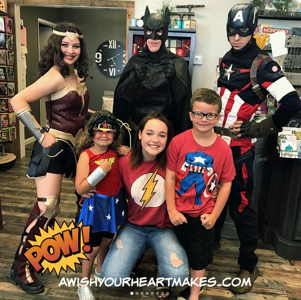 Wonder Woman Parties, Batman parties, Captain America parties, Central Valley & Coast, California