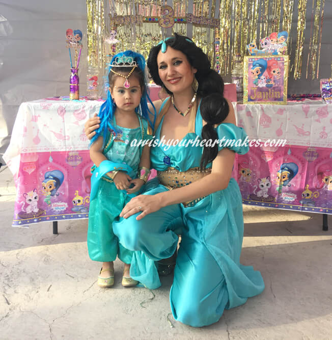 Princess Jasmine parties, Central Valley & Central Coast, California