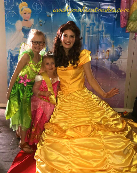 Princess Belle parties, Central Coast & Valley, California