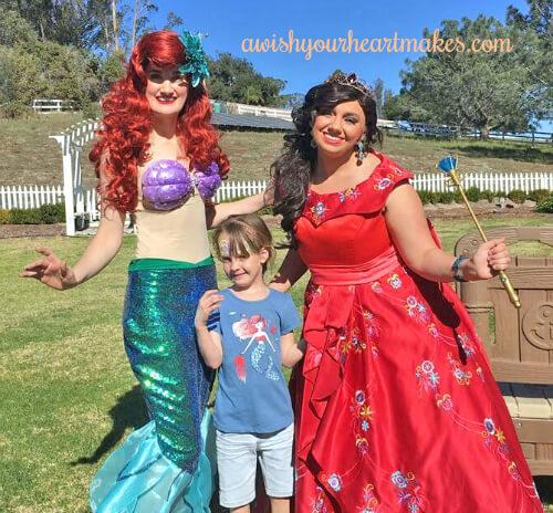 Ariel parties, Elena of Avalor parties, Central Valley & Coast, California