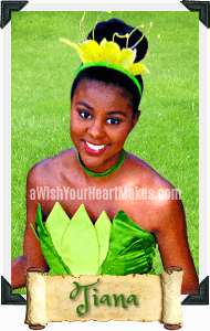 Tiana from Frog Princess parties, Central Valley & Coast, California