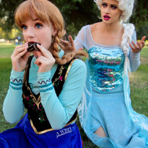 elsa and anna silly frozen