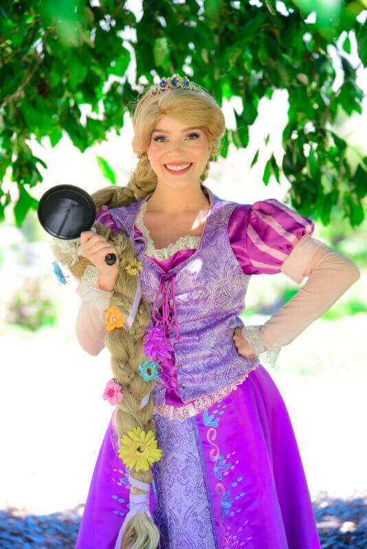 rapunzel portrait with frying pan