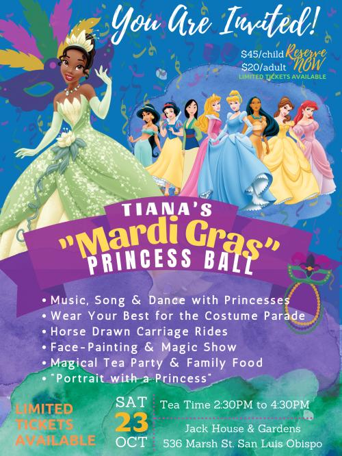 MardiGras Princess Ball event